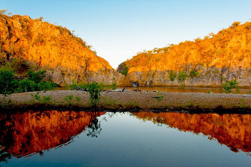 Die unteren Leliyn Falls im Nitmiluk National Park