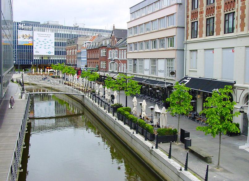 Der Åboulevarden von Aarhus