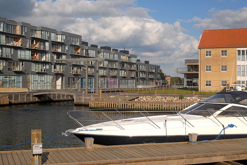 Das neue Slotsbryggen-Viertel von Nykøbing Falster