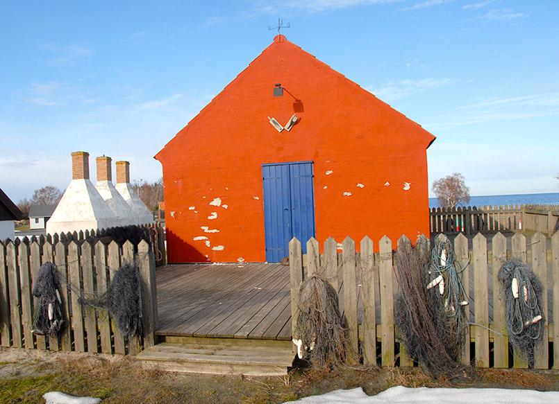 Snogebaek: Fischerhütte